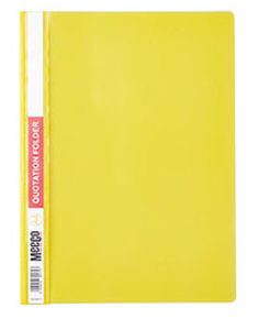 Picture of Meeco A4 Quotation Folder Yellow
