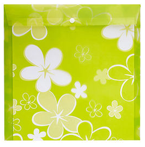 Picture of Meeco Scrapbook Carry Folder Printed Green