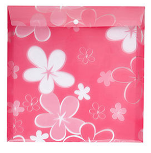 Picture of Meeco Scrapbook Carry Folder Printed Pink