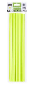 Picture of Meeco Slide Binder 10mm Neon Yellow Pkt 10