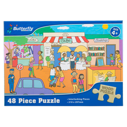 Picture of Butterfly 48 Piece Wooden Puzzle Assorted Designs