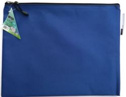 Picture of Meeco A4 Nylon Book bag with zip closure - Blue