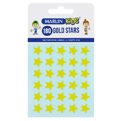 Picture of Marlin self adhesive labels - 180 Gold stars