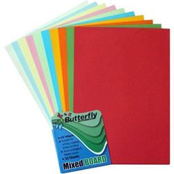 Picture of Butterfly A4 Bright & Pastel  Project Board Assorted 50 Sheets