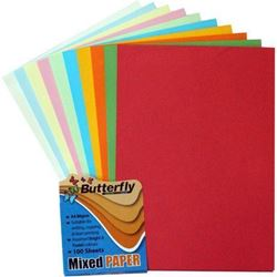 Picture of Butterfly A4 Bright & Pastel  Project Paper Assorted 100 Sheets